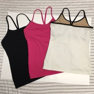 LULULEMON • Power Y Tank Top Bundle of 3 Size 6